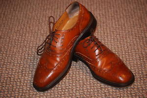 Hey Look!  I got these Vintage Joseph Abboud brogues for twenty-five dollars!  I love the internet.  I wanted more of a caramel color, but these are damn close…