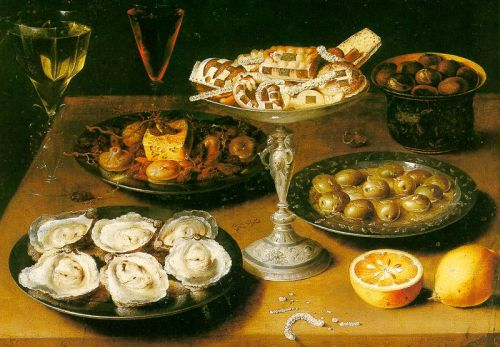 Osias Beert Still Life with Oysters and Pastries 1610