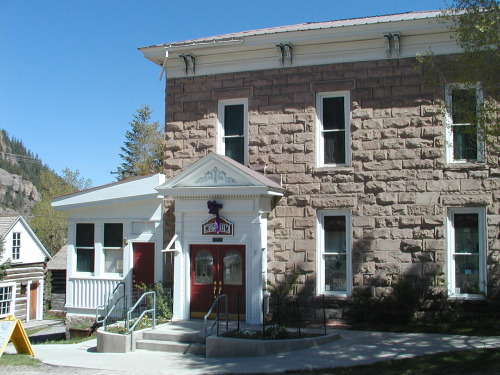 1 Ouray County Historical Museum (St. Joseph's Miners Hospital) • 420 Sixth Avenue • 1886-1887 — The Miners Hospital opened its doors on Aug. 27, 1887 under the auspices of the Sisters of Mercy. This stately old Italianate building has three floors and a partial basement with a dirt floor. There are 34 rooms in the building, 27 now devoted to local history. The hospital was in existence for 77 years, closing in 1964. By 1971 the newly organized Ouray County Historical Society leased space for exhibits and in 1976 purchased the property for a museum. It is reported to be haunted.