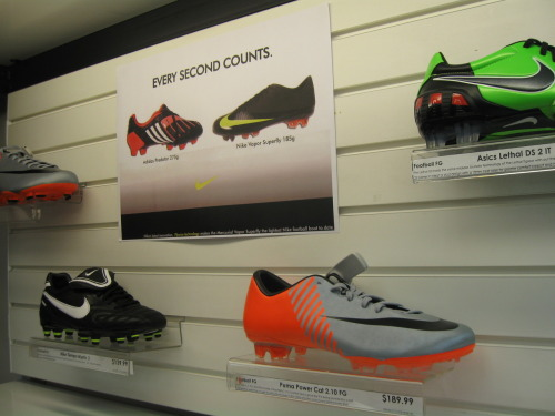 This is the image of my poster. At Rebel Sport surrounded with boots is a place where one would often find posters such as these. :)