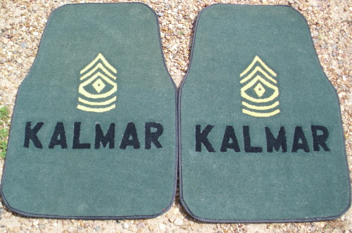1st Sergeant Kalmar will surely take pride in these car mats.