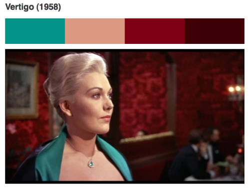 Martin Scorsese's list of the best uses of color in film has been supplemented by a wonderful ColourLovers collection of color palettes.