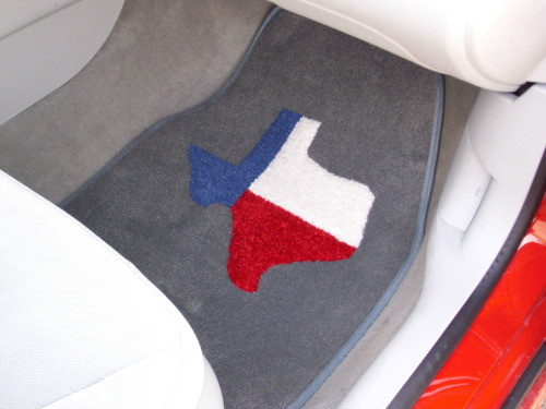 Tri-color Texas car mats. It's a beautiful thing.