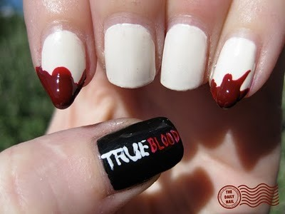 artistique-meg:  The Daily Nail: I Wanna Do Bad Things With You This is such a clever idea! Also, yay. True Blood!