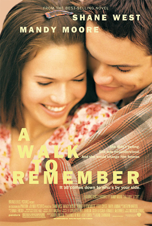 Day 02 — Your favorite movie A WALK TO REMEMBER - feat. Mandy Moore & Shane WestFrom the best-selling novel by Nicholas Sparks.