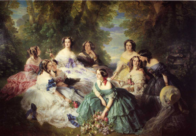 The Empress Eugenie Surrounded by her Ladies in Waiting, Franz Winterhalter, 1855
