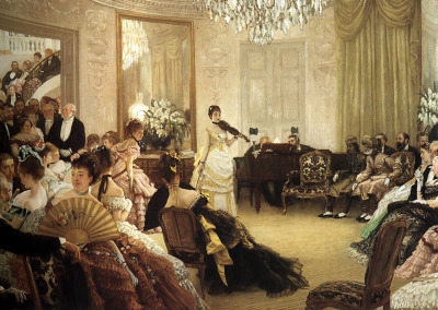 Victorian party Hush! by James Tissot (1875) Thanks cheveuxroux!
