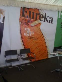 updating my Tumblr blog… for those who saw the big Eureka covers at  #cheltscifest, here's the story behind the bee one.