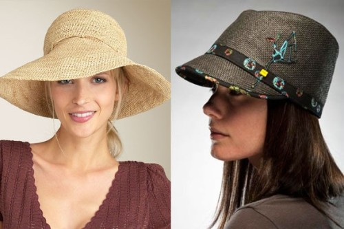 How to Wear: Summer Hats If you have trouble choosing between the 31 flavors at Baskin Robbins, you also might be a bit overwhelmed by all the styles of hats that seem to suddenly be popping up all over. Fedora, cloche, straw, floppy, cowboy, newsboy, bucket, bowler — it's enough to make even the most seasoned fashionista confused. But, like ice cream, once you sample all the tempting types, treating yourself to a new summer hat can be quite satisfying. Read our advice on how to wear them here. [Straw styles, such as Helen Kaminski's floppy hat from Nordstrom.com, left, and Nobis's Alana cap are great summer picks. Photos: Nordstrom.com, Nobis]