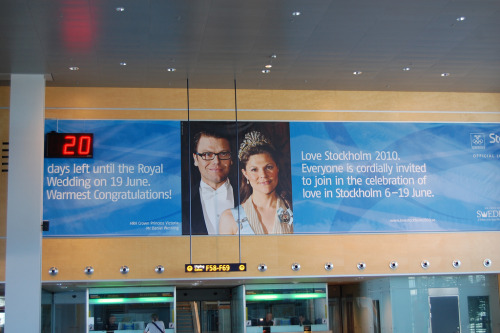 Arlanda Airport Royal Wedding Crown Princess Victoria & Daniel Countdown Love 2010 Stockholm Sweden June 19 Photo By ellenmac11