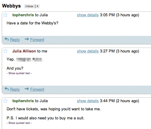 topherchris:  This is exactly when Julia Allison stopped replying to me.