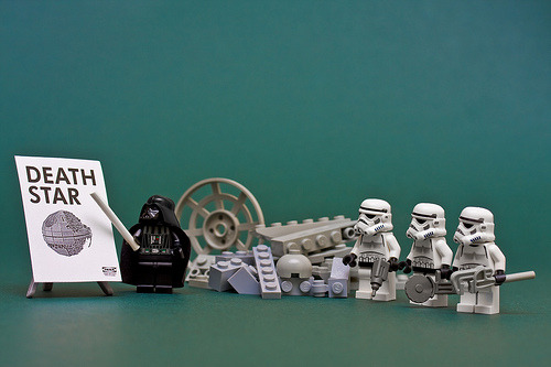 legoexpress:  Death Star, by IKEA (by Sad Old Biker)