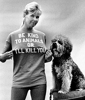 This shot cracks me up. Doris Day really is a huge animal activist. [Via Glamnation 666 on flickr]