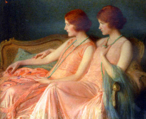 blueruins:  The Bouvier Twins by Albert Herter