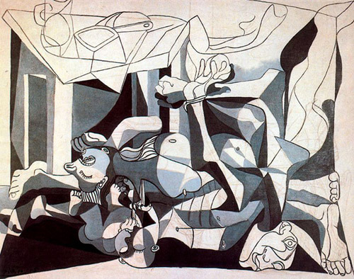 Pablo Picasso. The Charnel House, 1944Via (via darksilenceinsuburbia)