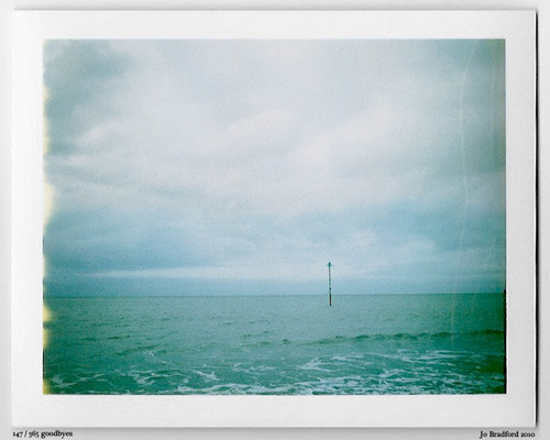 Day 147.  Minehead, Somerset. Don't ask why I was there… it's a long story Somerset, Cornwall, UK. Polaroid Land Camera 240 and 125i film (expired 12/2007). (Polaroid photograph, all rights reserved, copyright: Jo Bradford 2010