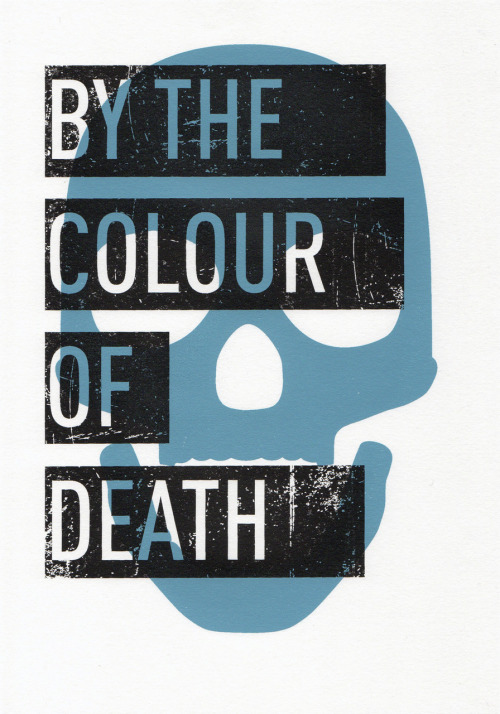 BY THE COLOUR OF DEATH.  - Sam Stefan & Max WallisLimited edition (40) hand printed two-layer screen print on textured paper.  This is the start of something special.  Sam Stefan is part of the DPOV art collective and we've been meaning to collaborate since this time last year.  Forty of these prints have been made and framed in glass.  They're numbered and extremely limited - we're not doing this design again.  They're A4 (210 × 297 mm) and include the framed print and poem.  Prices are still being finalised and the shop will be updated with them as soon as possible but you can email me at max.robert.wallis[@]googlemail[.]com for enquiries.  They can be shipped worldwide.