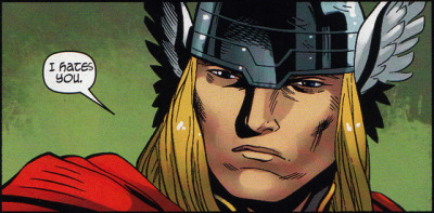 In my mind, Thor has the voice of Skwisgaar Skwigelf.