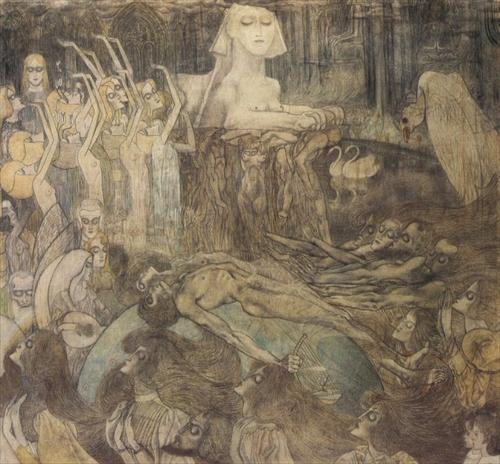 The Sphinx by Jan Toorop ,1892-97 [also]