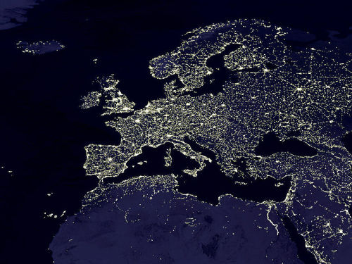 l-v:  Europe by night