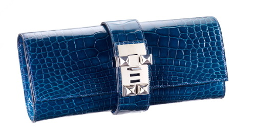 Hermes Medor Clutch in alligator.