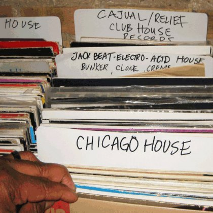 "Chrissy Murderbots presents My Year Of Mixtapes Week 38: Chicago House «« Meatskull..    ""The stories about this genre have been told a bajillion times, so go google them if you want the in-depth version. The short version is this: there was a guy from New York named Frankie Knuckles who moved to Chicago in '77 to play at a new discotheque called the Warehouse. He played lots of very odd, deep, drum-oriented disco, which soon became the dominant sound of early-'80s black Chicago (and spawned a lot of other, even weirder DJs—most famously Ron Hardy, who played at the Music Box). By 1981, Chicagoans were referring to the Philly Disco, Italo, Quebecois disco, and new wave records heard at the Warehouse not as ""disco"", but as ""House Music"". By 1985 you have a bunch of local Chicago kids attempting to MAKE this type of stuff on their own, with loads of crummy equipment culled from thrift stores (equipment which, in the intervening 25 years, has become incredibly valuable due to its house music cachet). By 1986, this local Chicago music has blown up and gone worldwide, conquering New York's club scene, hitting #1 on the UK pop charts, and directly inspiring Detroit techno (and every other dance music genre since).25 years later, Chicago House still sounds different than house music from the rest of the world. It often has a rawer, less polished quality than, say, French house, or NY house. Also, Chicago house tends to vacillate between VERY traditional, R&B-inspired vocal tunes and VERY weird, psychedelic, oddness in a way that most other genres (including other sub-genres of house) don't. But enough of my rambling. Here are my faves from the early years of Chicago house."" – Chrissy Murderbots  Jamie Principle – Waiting On My Angel (A Frankie Knuckles Production) (Persona Records, 1985)Adonis & The Endless Pokers – The Poke (D.J. International Records, 1986)J.M. Silk – I Can't Turn Around (Chrissy Murderbot Re-Edit) (RCA Victor, 1986)Mr. Fingers – Washing Machine (Trax Records, 1986)The House Master Boyz & The Rude Boy Of House – House Nation (Dance Mania, 1986)Mr. Lee – I Can't Forget (Dub) (Trax Records, 1987)Marshall Jefferson – The House Music Anthem (House Your Body) (Chrissy Murderbot Re-Edit) (Trax Records, 1986)Sterling Void & Paris Brightledge – It's All Right (House Mix) (D.J. International Records, 1987)Joe R. Lewis – Love Of My Own (Target Records, 1987)Robert Owens & Fingers, Inc. – Bring Down The Walls (Trax Records, 1986)Steve Poindexter – Computer Madness (Muzique Records, 1989)Project Democracy feat. China – Is This Dream For Real (Under Dog, 1987)Vicky Martin – Not Gonna Do It (Mike Dunn Dub) (Movin' Records, 1988)Pierre's Pfantasy Club – Got The Bug (Club Mix) (Trax Records, 1987)Phortune – Jiggerwatts (Hot Mix 5, 1988)2 Houss People – Feel The Rhythm (Acid Mix) (Neco Records, 1988)Sleezy D. – I've Lost Control (Space Mix) (Trax Records, 1986)Jackmaster Curt – Real Fresh House (House Mix) (Jiszack Master Records, 1987)Armando – 100% Of Dissin' You (Warehouse Records, 1988)Maurice – This Is Acid (Les Adams Remix) (Vendetta Records, 1988)Cool McCool – World Turns Around (Hot Mix 5, 1988)Phuture – Slam! (Trax Records, 1988)Tyree – Let The Music Take Control (D.J. International Records, 1989)Ralphi Rosario vs. Richie Rich – You Used To Salsa (The Remix of Salsa House) (FFRR, 1989)Frankie Knuckles Presents Satoshi Tomiie feat. Robert Owens – Tears (Classic Vocal) (FFRR, 1989)Pleasure Zone – Fantasy (Trax Records, 1988)Jack Frost – Clap Me (Trax Records, 1988)Ce Ce Rogers – Someday (Club Mix) (Atlantic, 1987) LINK So good.Jack jack jack"