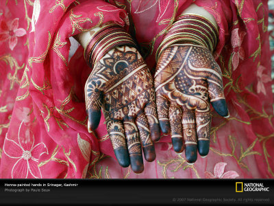 Decorated hands