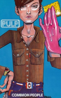 Common People Comic OMG! I didn't know Jamie Hewlett made a promotional comic book illustrating the lyrics to this song. It was included with some copies of the Common People French single. THIS IS PRETTY AWESOME! (one of my favourite Pulp song its illustrated in this draw, right on Jarvis hand)