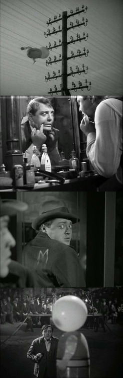 moviesinframes:  M, 1931 (dir. Fritz Lang)Submitted by Crazy Simo  There is a scene in this that has to be 5 minutes long of pure panning across an angry mob. It's genius.