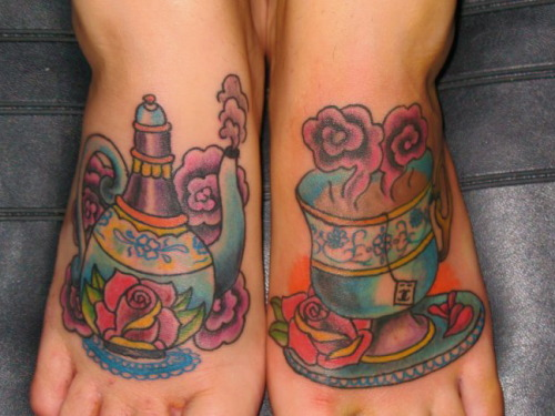 These are my feet done by Brandon at Traditional Tattoos in Walnut Creek Ca! No fancy story, no real reason, its simple, i love tea!