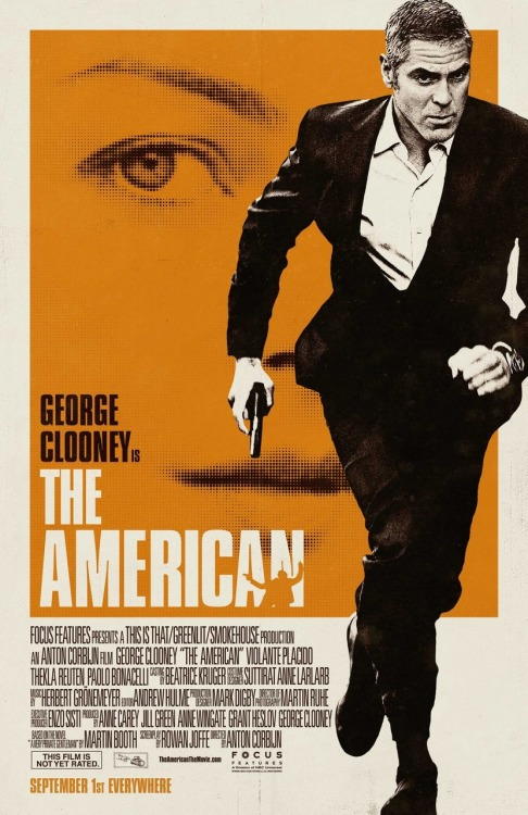 The poster for the forthcoming The American movie is very nicely done indeed.