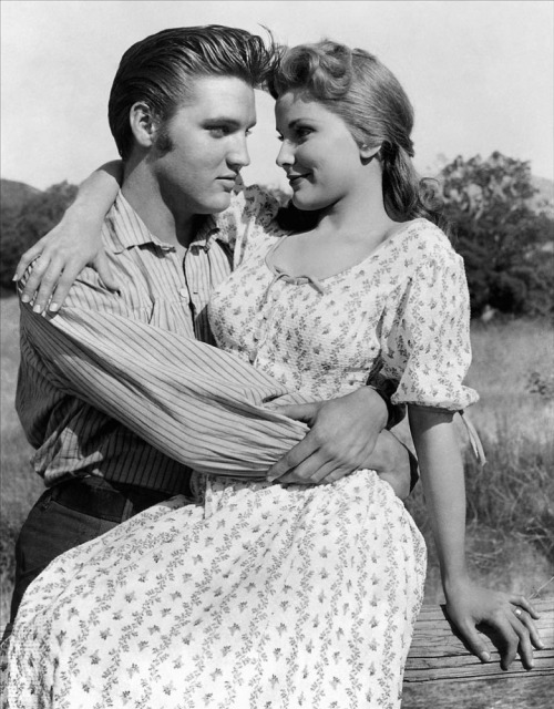 Elvis Presley and Debra Paget