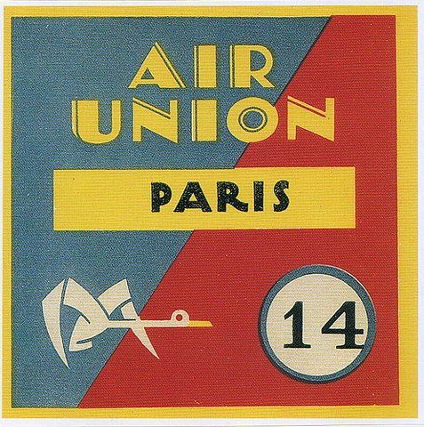Happy French Friday! Here's a lovely vintage luggage label, via ffffound.