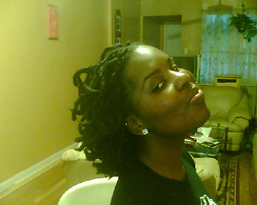 took the bantu knots out [check the c'mon son face lol]