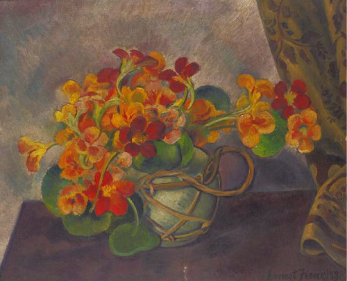 Ernest Fiene Still Life with Nasturtiums in a Pot 1923