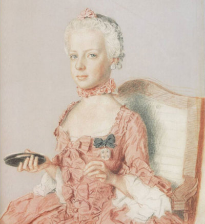 Another illustration of the eternally fabulous Marie Antoinette.