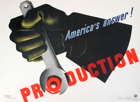 Poster by Jean Carlu, 1942     America's Answer! Production by Carlu, Jean
