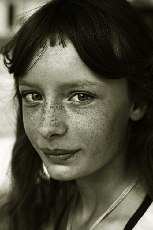 Those freckles… those eyes… and that whimsical and tentative smile.