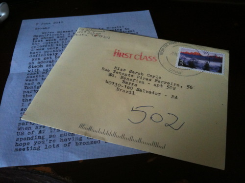 Adorable type-written letter from my friend Liz arrived yesterday reminding me of the pile of postcards I still have not sent…