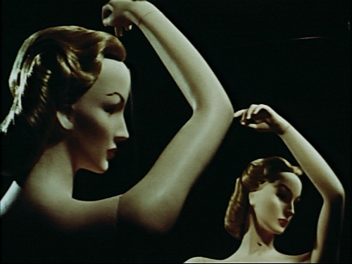 billyjane: Still from Dreams That Money Can Buy,1947 by Hans Richter  segments:  Desire Director, Writer - Max Ernst The Girl with the Prefabricated Heart Director, Writer - Fernand Léger Ruth, Roses and Revolvers Director, Writer - Man Ray Discs Director, Writer - Marcel Duchamp Ballet Director, Writer - Alexander Calder Circus Director, Writer - Alexander Calder Narcissus Director, Writer - Hans Richter  youtube