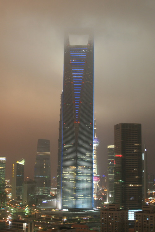 Shanghai Financial Center and the air pollution