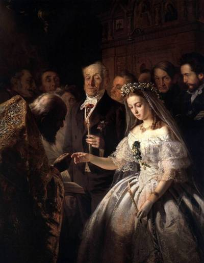 The Arranged Marriage by V.V.Pukirev, 1862