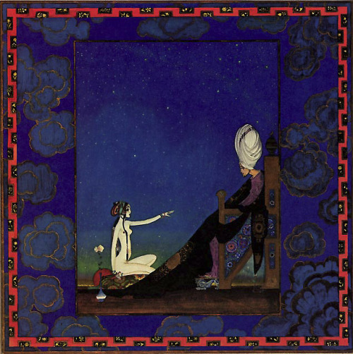 Kay Nielsen: Sheherazade  Illustration to Arabian Nights