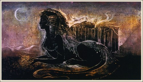 Sphinx Noir by Susan Seddon Boulet via The Pictorial Arts
