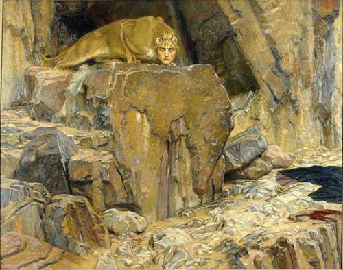 The Sphinx,1907 by Georg von Rosen