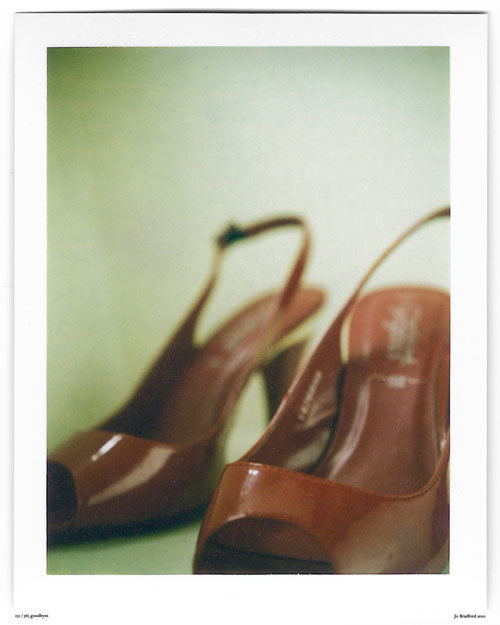 Day 151.  F**k Me Shoes. Cornwall, UK. Polaroid Land Camera 240 and 125i film (expired 12/2007). (Polaroid photograph, all rights reserved, copyright: Jo Bradford 2010