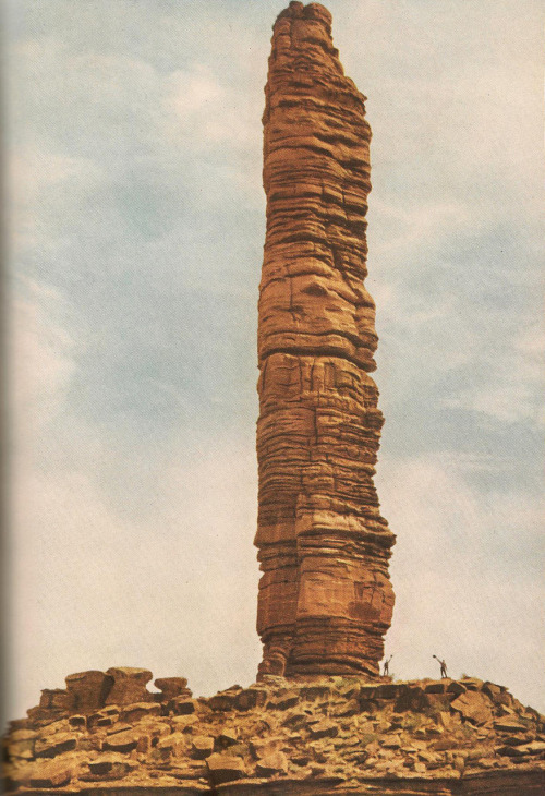 June, 1952 A pylon at Monument Canyon, estimated to be around 500ft high.