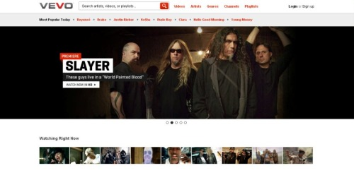 Slayer 'World Painted Blood' video premiere on VEVO.