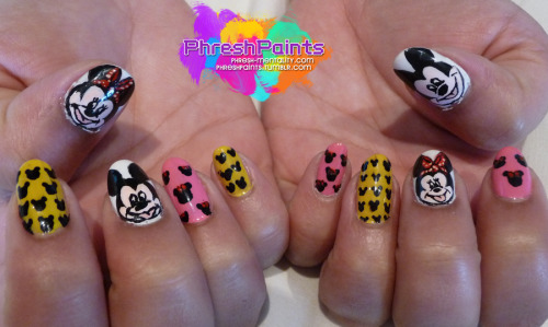 Mickey & Minnie hand painted :)