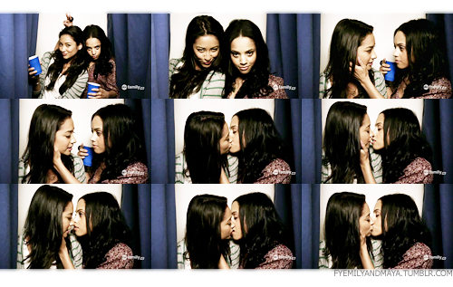 Pretty+little+liars+emily+and+maya+kiss